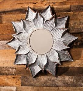 Sunburst Galvanized Mirror
