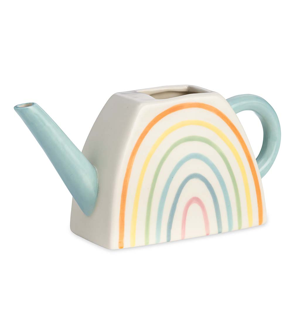 Ceramic Rainbow Watering Can swatch image