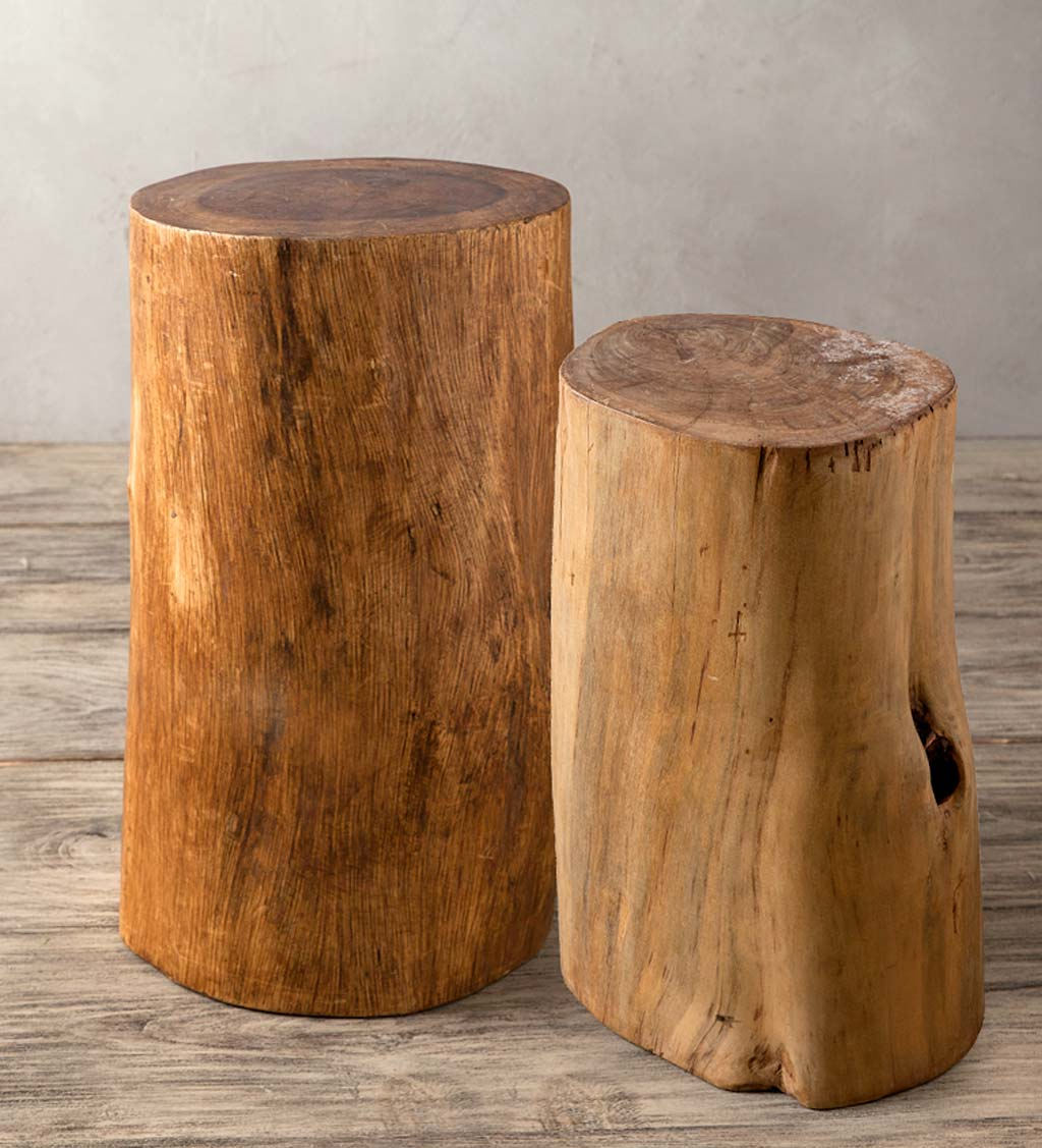 Fir Tree Trunk Stools/ Accent Tables