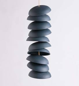 Ceramic Chime Sets, 10 Discs - Charcoal - MD