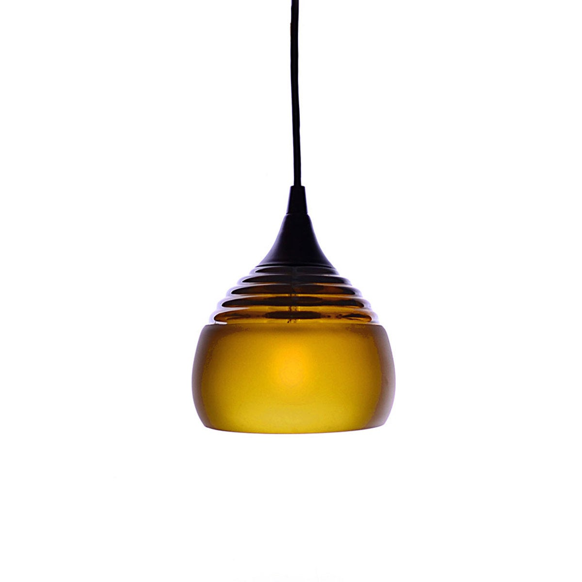 Tidal Recycled Glass Frosted Pendant - Large - Amber