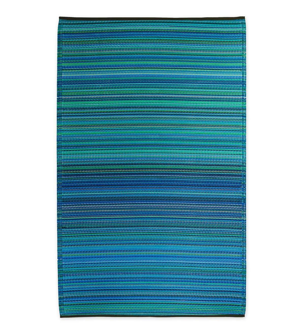 Reversible&Recycled Indoor/Outdoor Rug Cancun Style - 8x10 - Turquoise