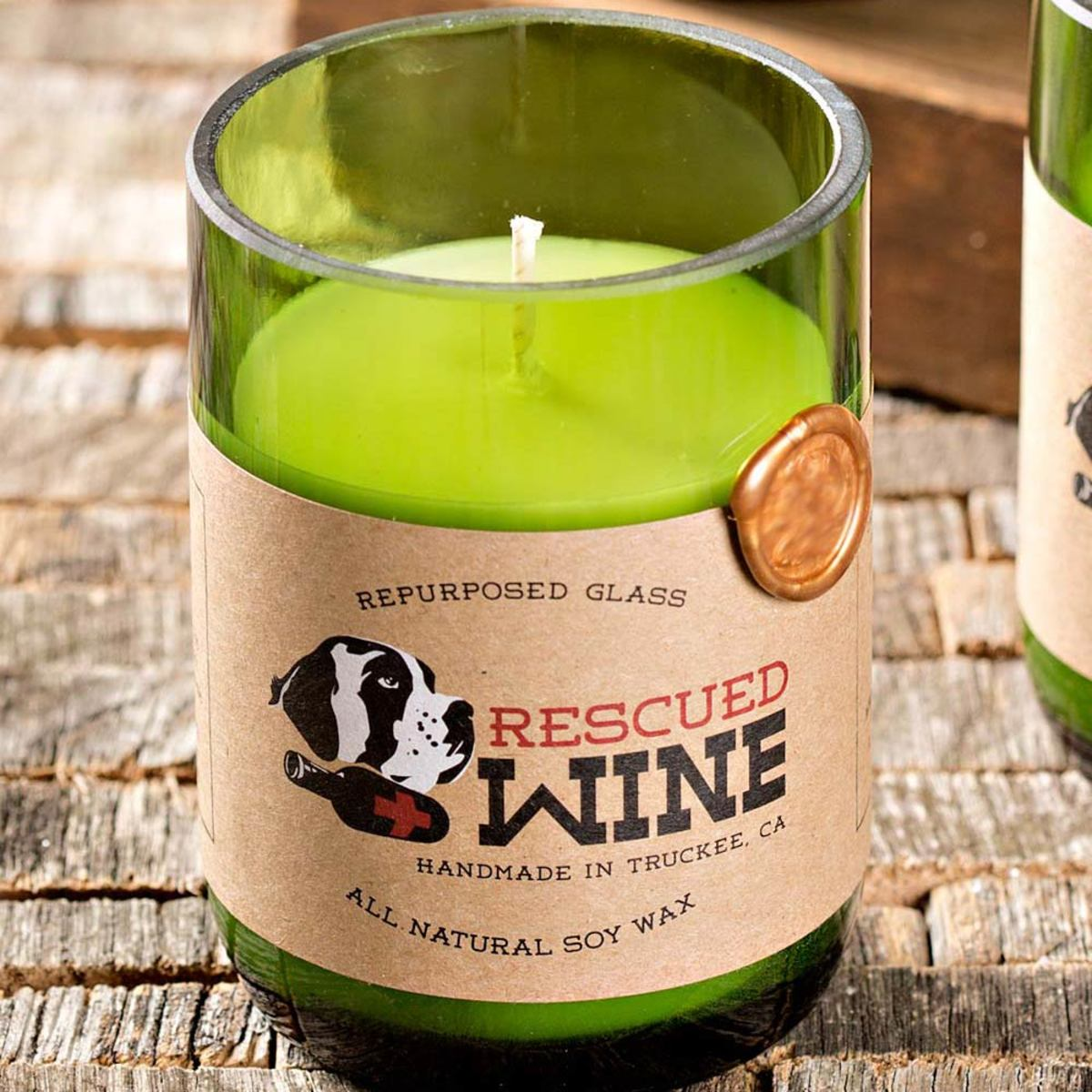 Rescued Wine Soy Candles  - Champagne
