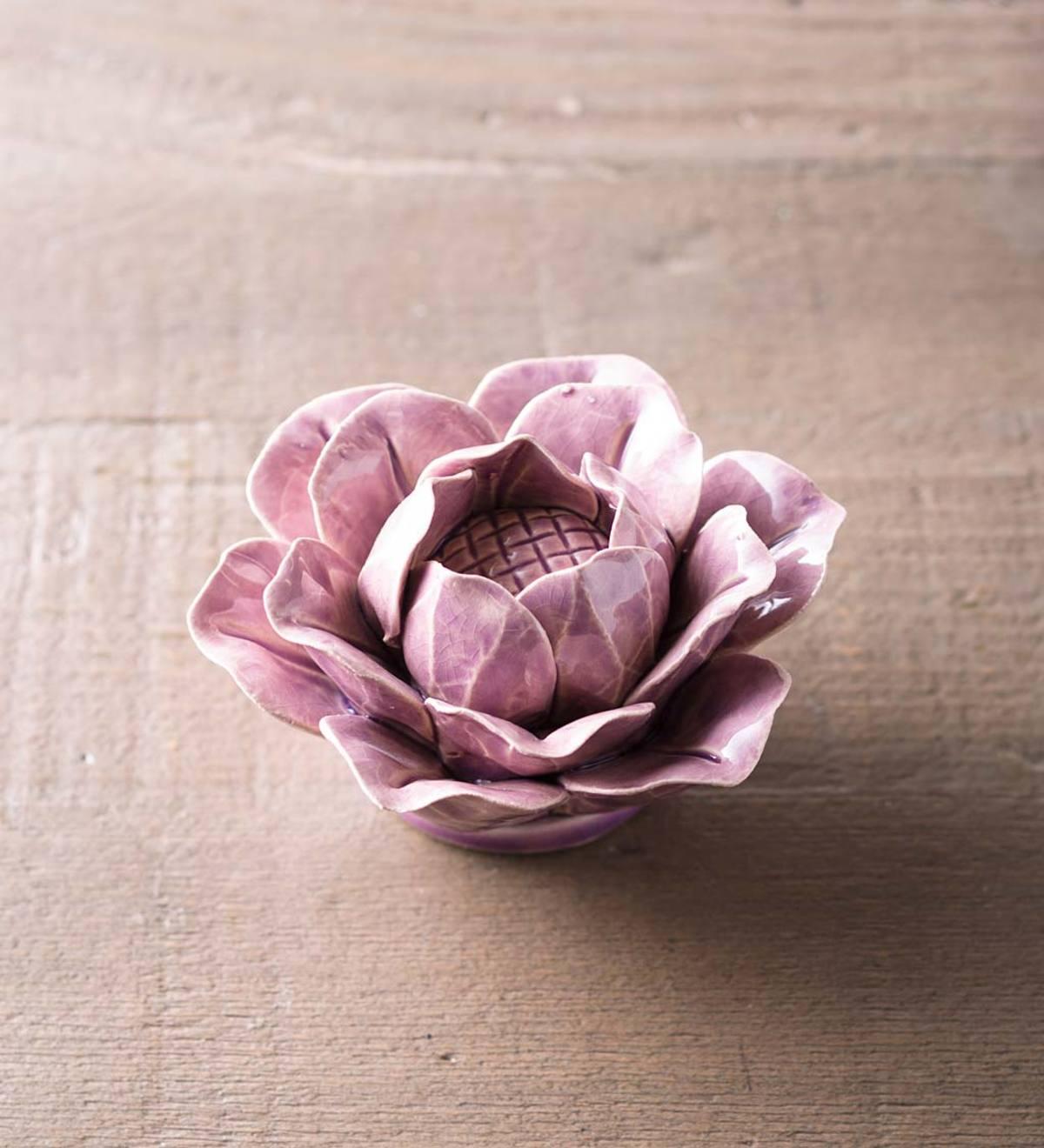 Light Purple Lotus Ceramic Floral Wall Art Vivaterra