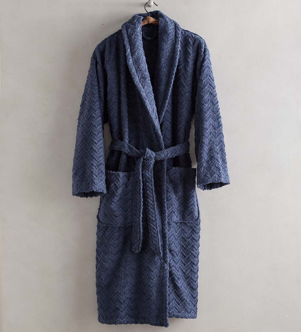 Chevron Velour Bath Robe