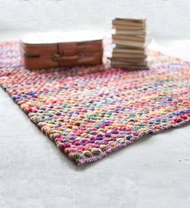 Recycled Multi-Color Cotton Rug 5 x 7