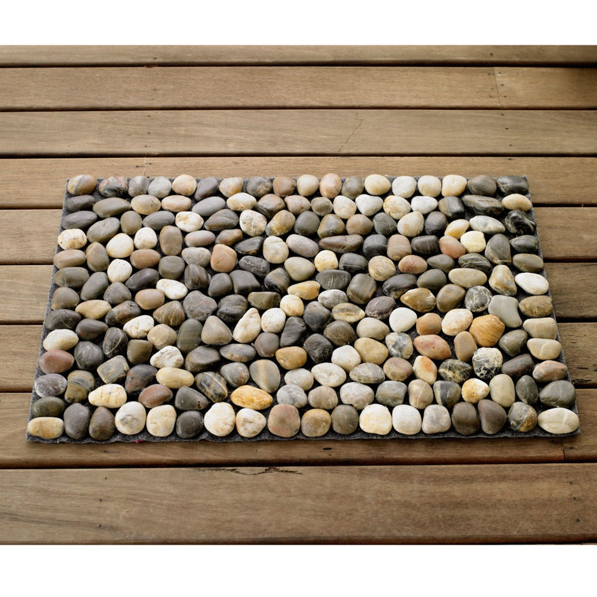River Rock Floor Mat - Multi