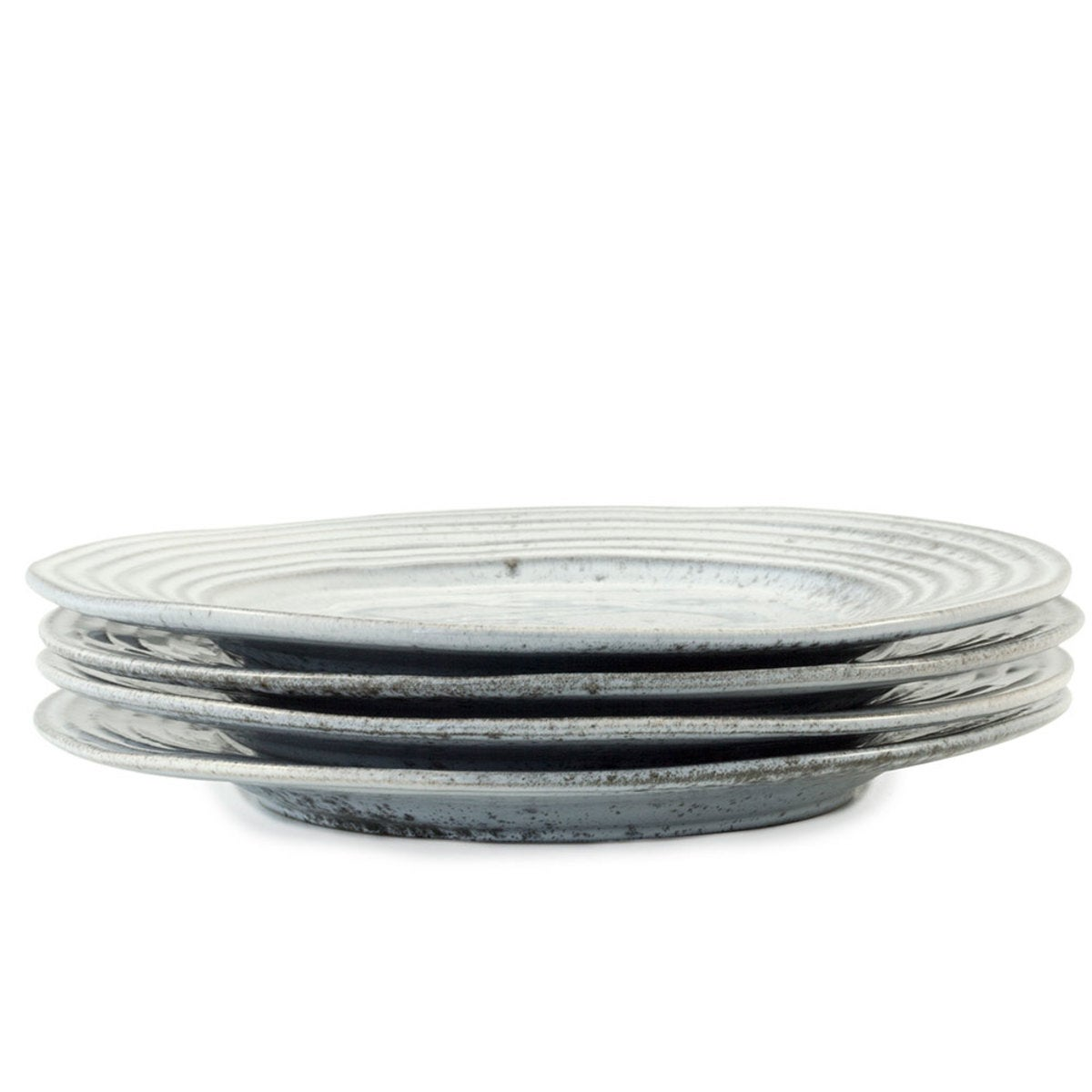 Rustique Stoneware Dinner Plate - Cloud, Set of 4 - Weathered White
