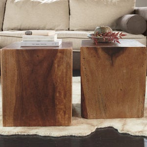 Convertible Wood Cube Accent Tables
