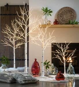 Birch LED Light Trees