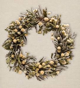 Handmade Sage and Amaranth Wreath