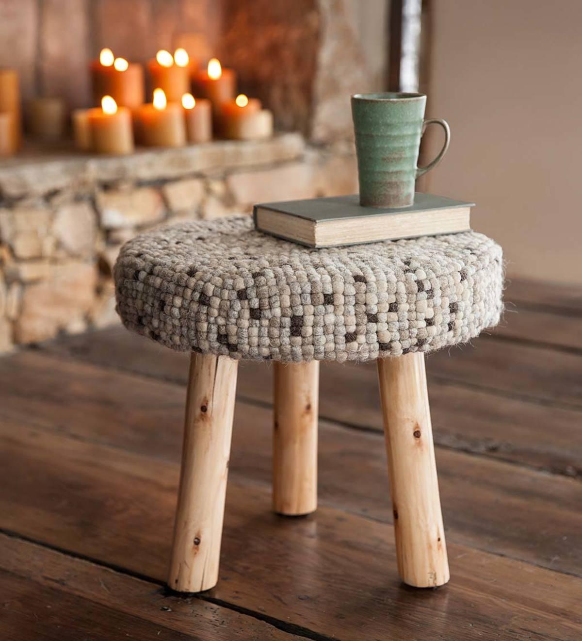 Tremendous Felted Wool Pebble Stool Vivaterra Pdpeps Interior Chair Design Pdpepsorg