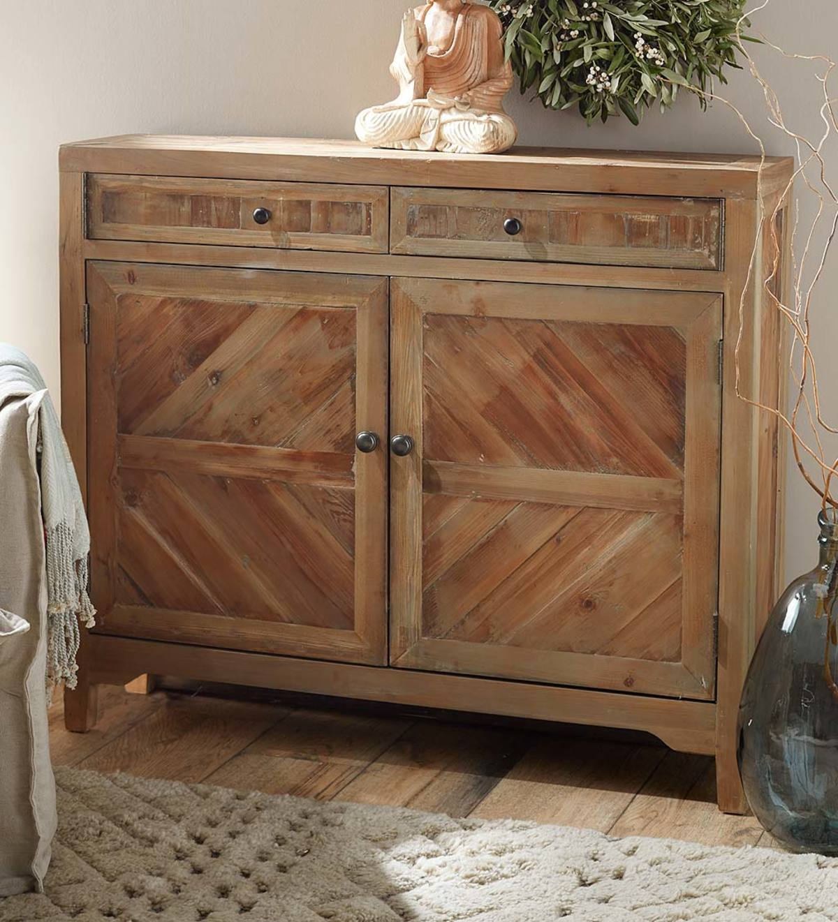 Reclaimed Fir Wooden Console Cabinet