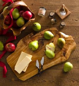 Organic Cheese and Pear on Root Board Gift Set