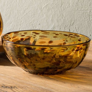 Classic Tortoise Recycled Glass Serving Bowl