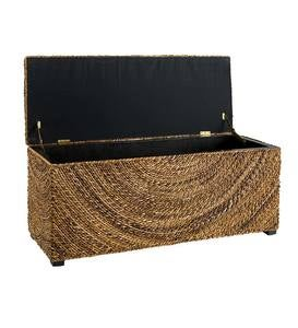 Woven Abaca Cypress Storage Bench