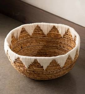 Banana Bark Woven Floor Basket