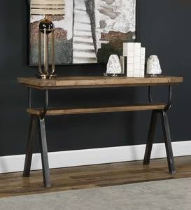 Reclaimed Pine&Iron Console Table