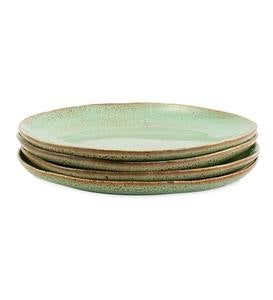 "Farmstead 8½"" Stoneware Salad Plates, Set of 6 - Bisque"