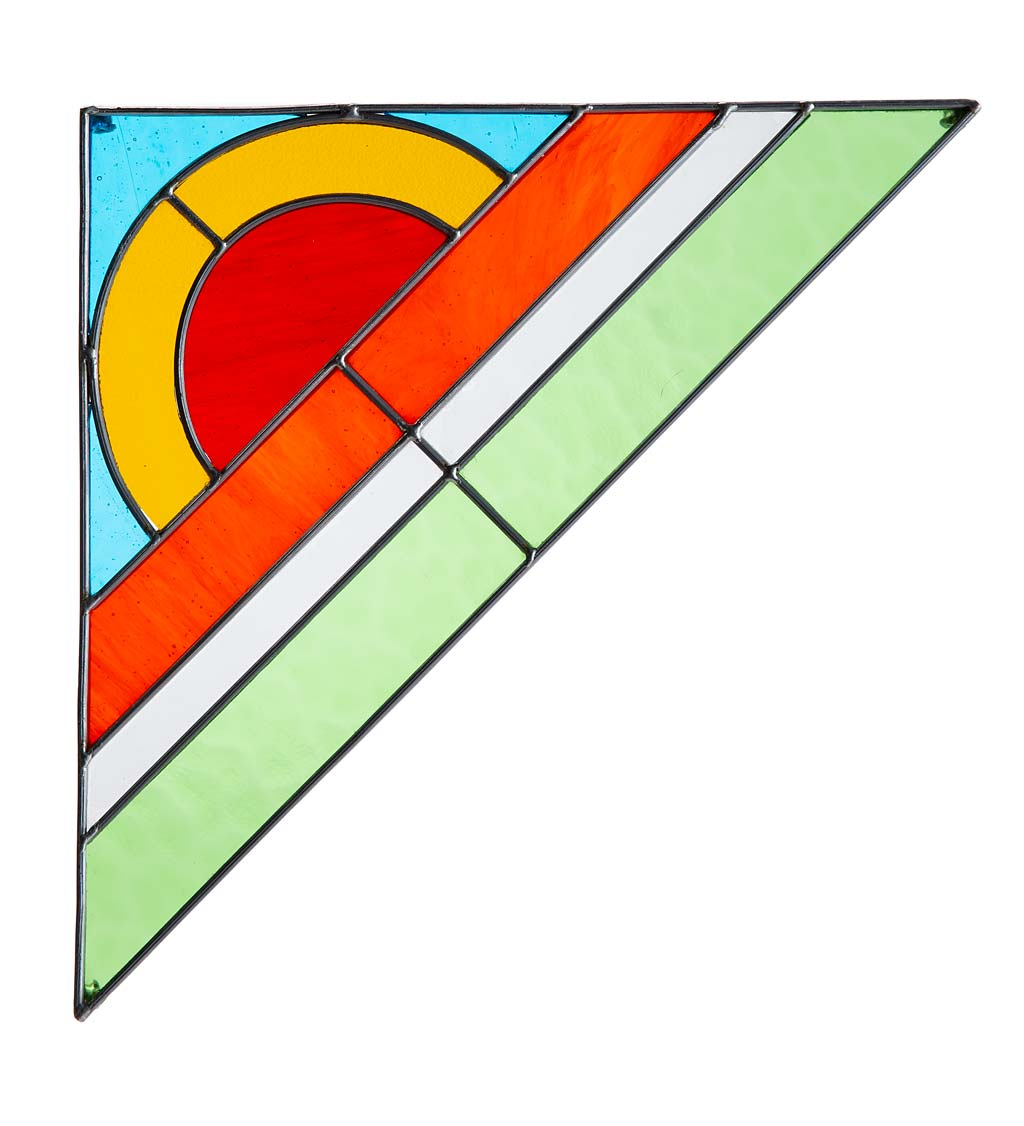 Rainbow Stained Glass Corner Art Bracket swatch image