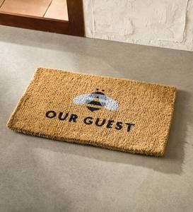 Bee Our Guest Coir Doormat