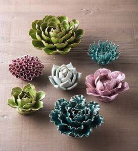 Ceramic Floral Wall Art