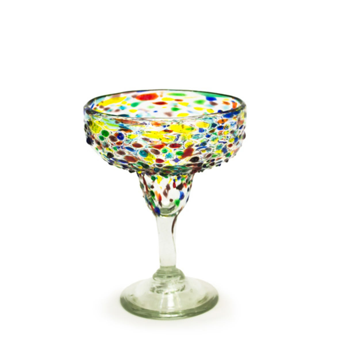 Confetti Recycled Margarita Glass
