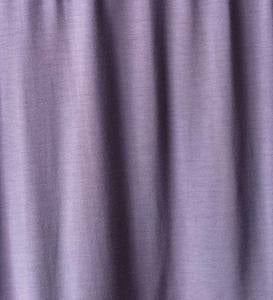 Eco-Weave Pleated V Neck Long Night Gown - Purple - Medium