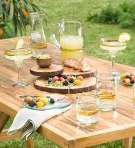 Summer Horizon Artisan-Made Recycled Glassware Collection