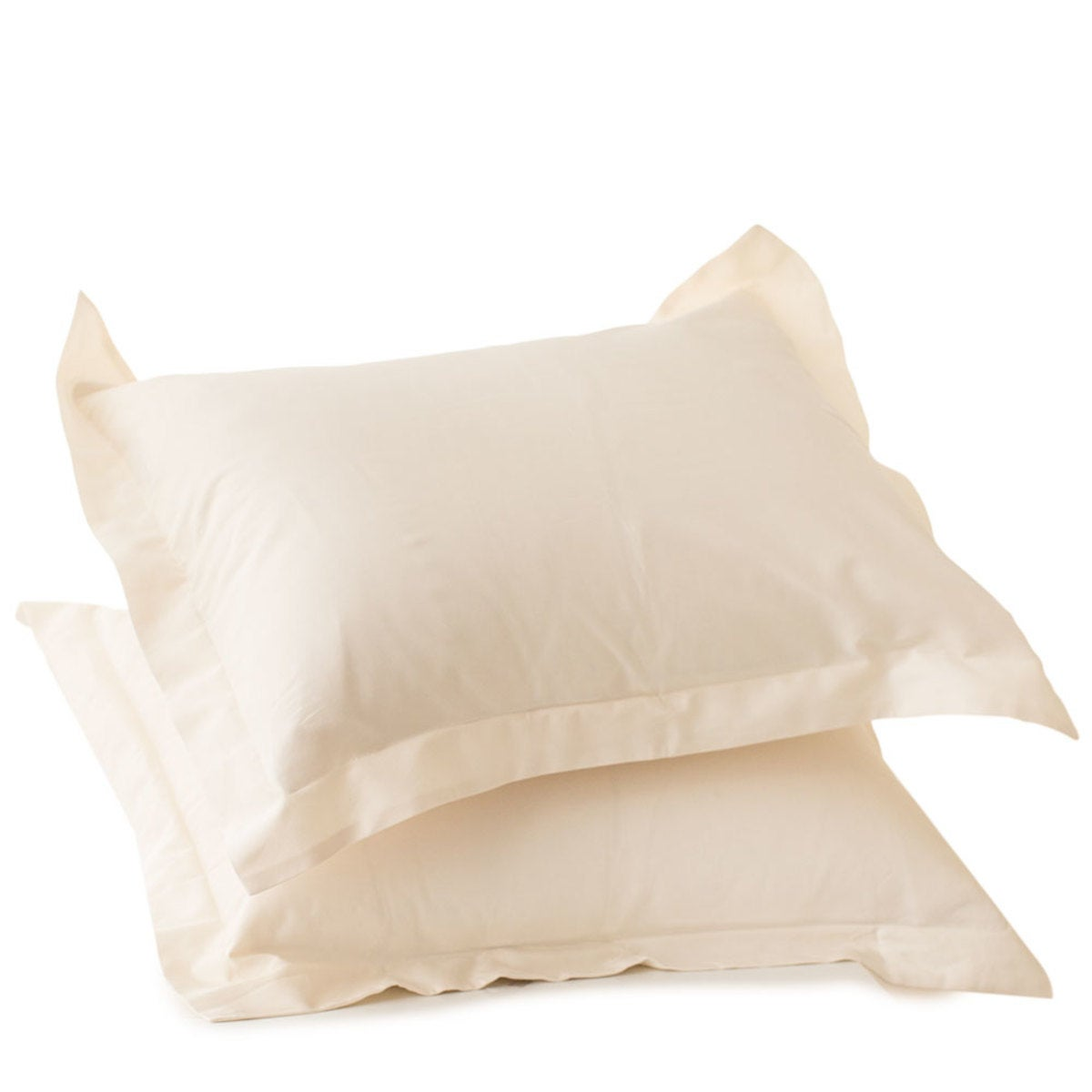 300 Thread Count Sateen Standard Shams - Ivory