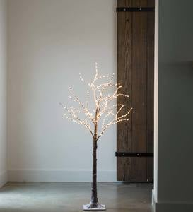 Birch LED Lighted Tree, Medium 5'H - White