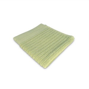 Organic Cotton Jacquard Rib Wash Cloth - Aloe