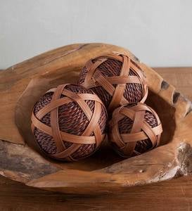 Rattan Ball Décor Sets
