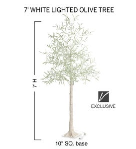 Indoor/ Outdoor Faux Lighted Olive Tree