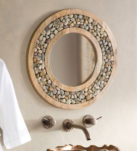 Riverstone Framed Round Accent Mirror