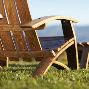Wine Barrel Adirondack Chair