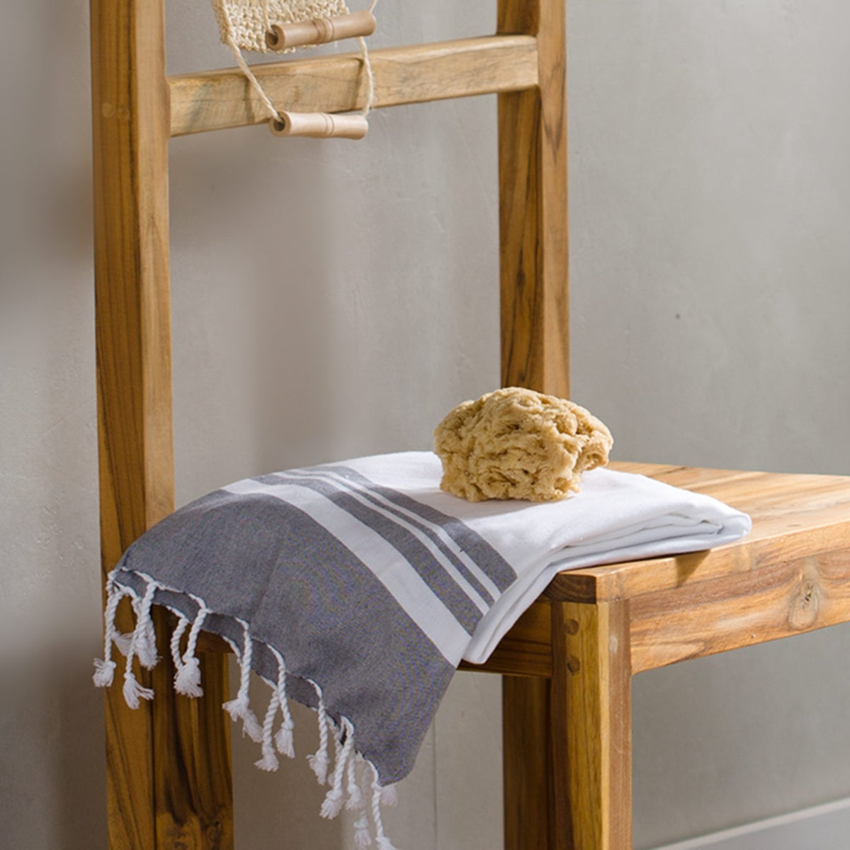 Fringed Turkish Cotton Striped Towels