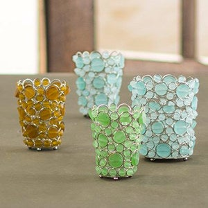Batasha Recycled Glass Candle Holders