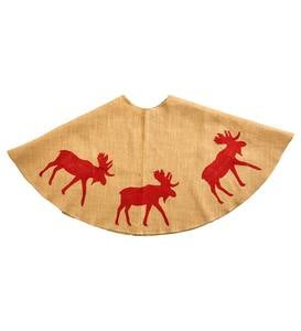 Moose Burlap Tree Skirt
