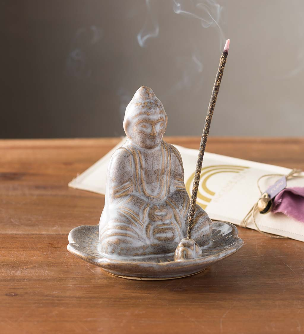 Ceramic Buddha Incense Holder