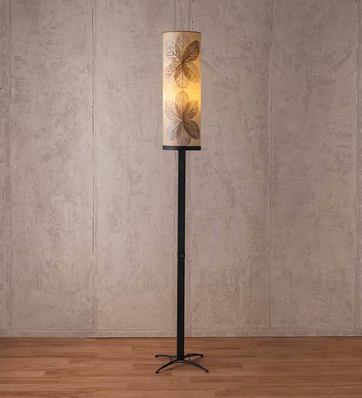 Outdoor/ Indoor Pillar Leaf Lamp - Natural