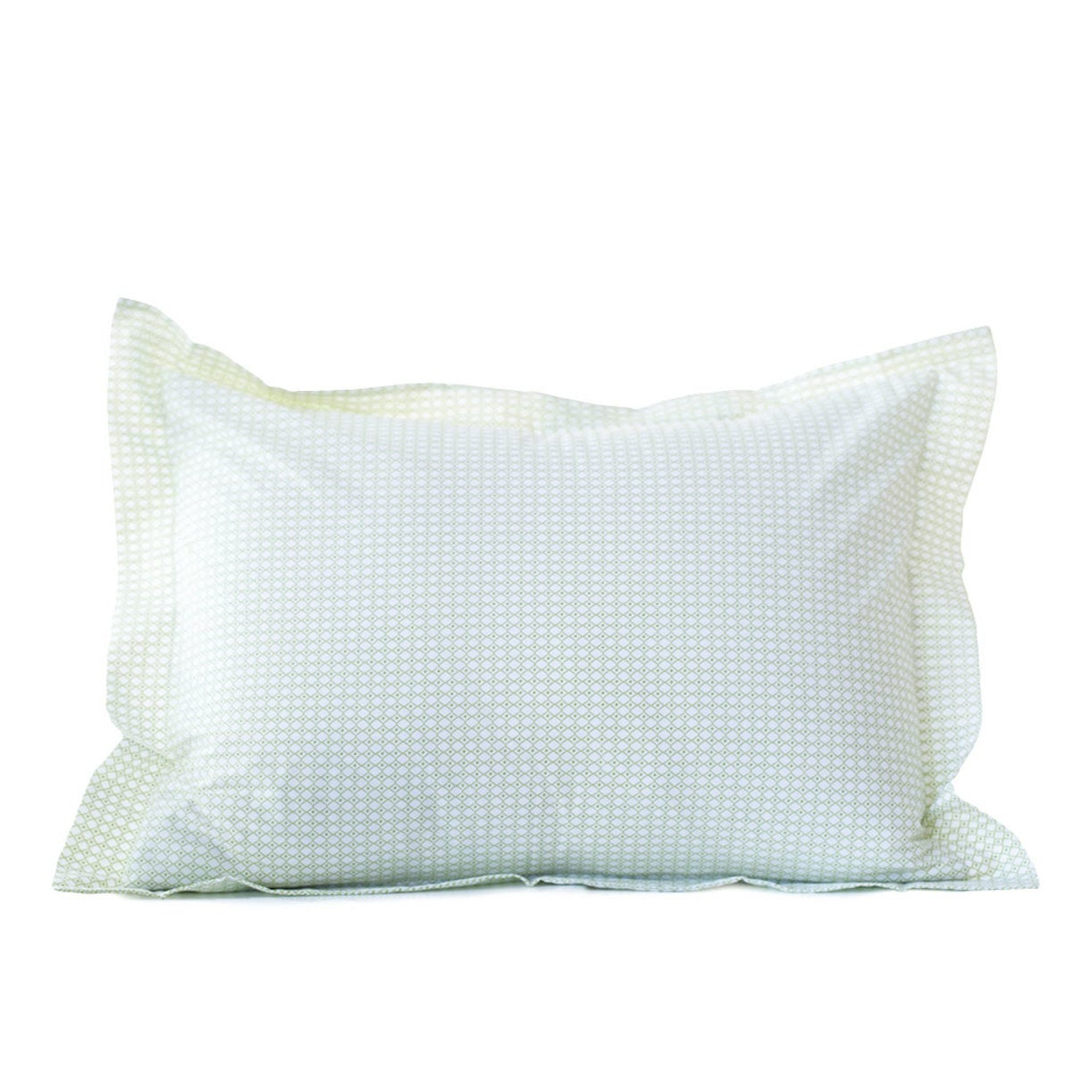 Petite Diamond Organic Sham - King - Green