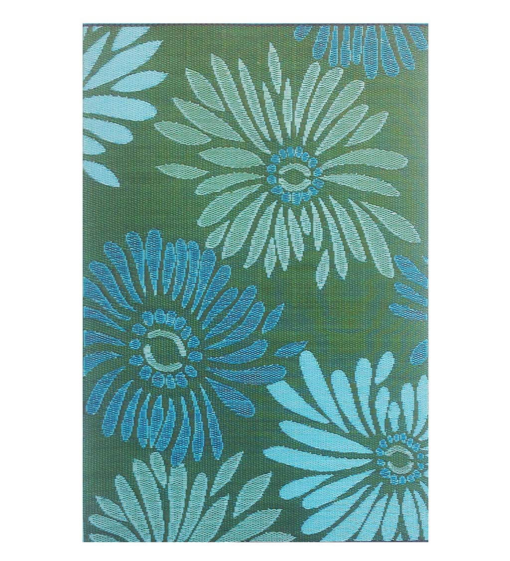 Recycled Plastic Indoor/Outdoor Rugs 4x6 - Daisy