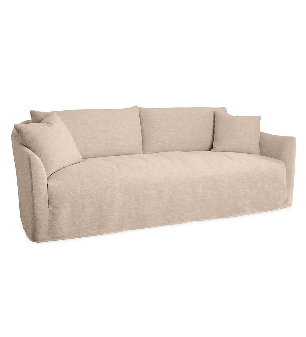 Eco Linen Slipcovered Sofa