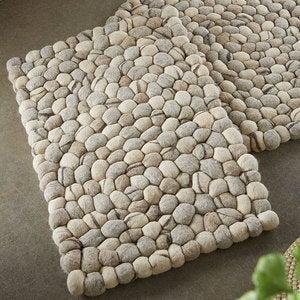 Felted Wool Pebble Rug - Rectangle