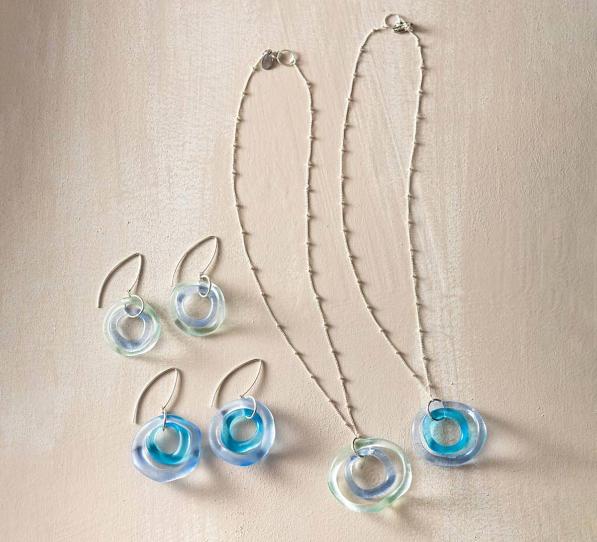 Recycled Wave Glass Jewelry Collection