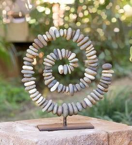 Stone Spiral on Stand