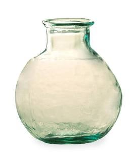 Oval Recycled Glass Balloon Vase, 12""