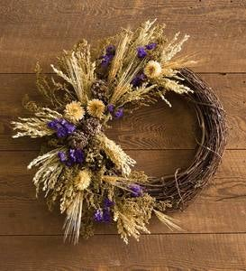 Floral and Grapevine Wreath