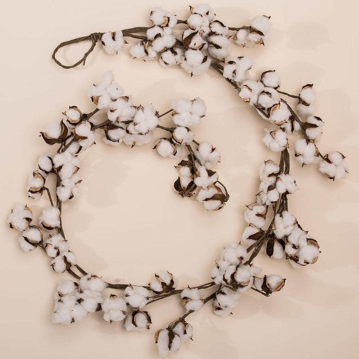 Cotton Pod Garland - 6'